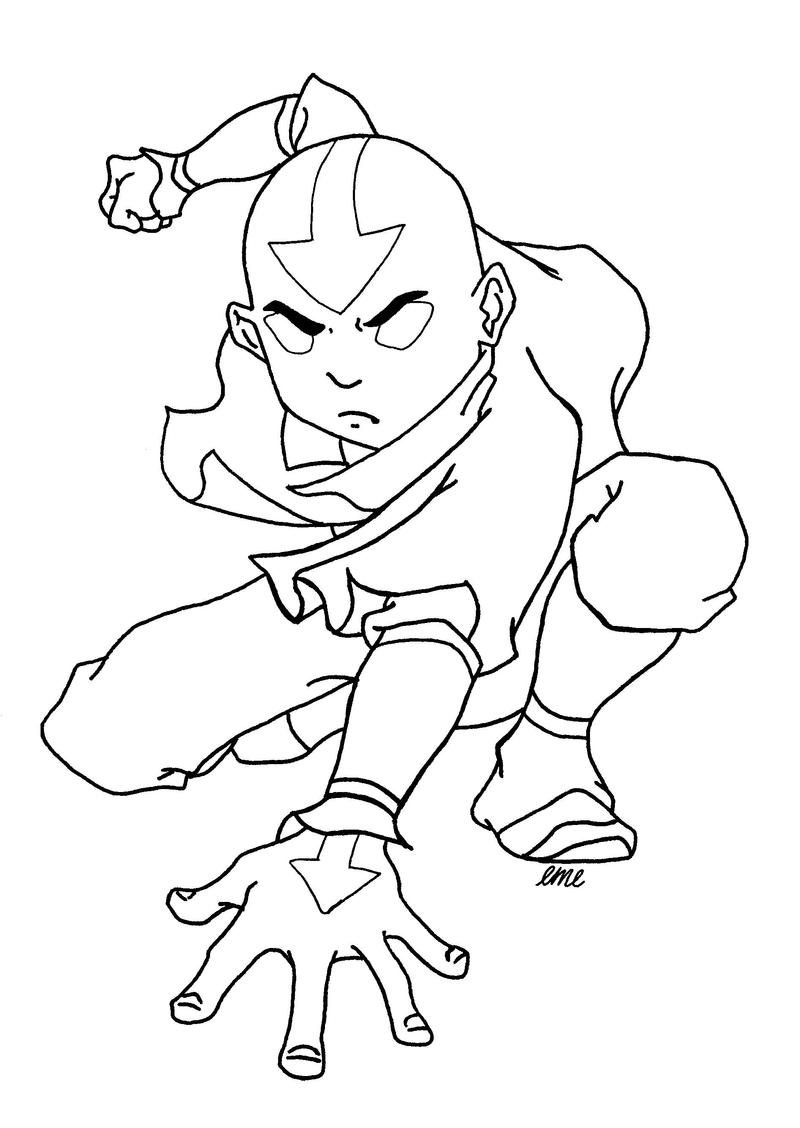 aang avatar state by cmcarterart on deviantart