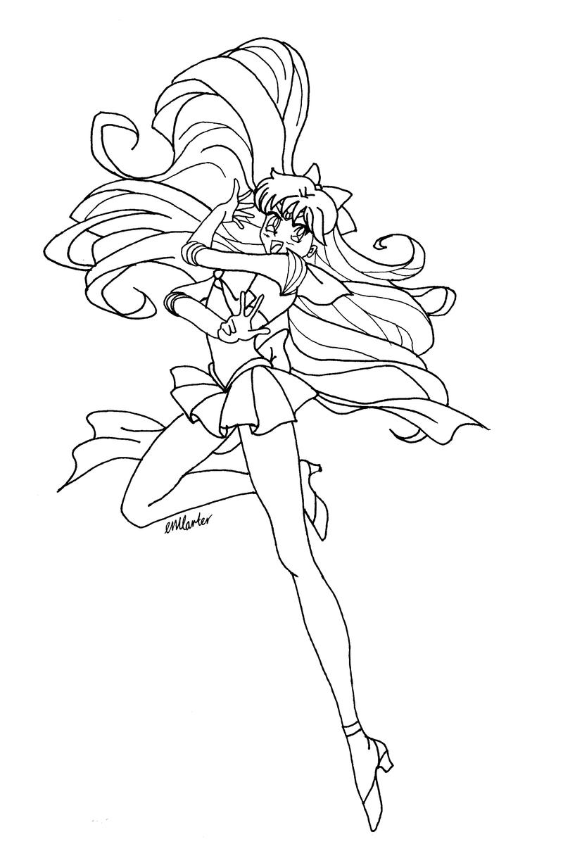 Sailor venus image 200 for Sailor venus coloring pages