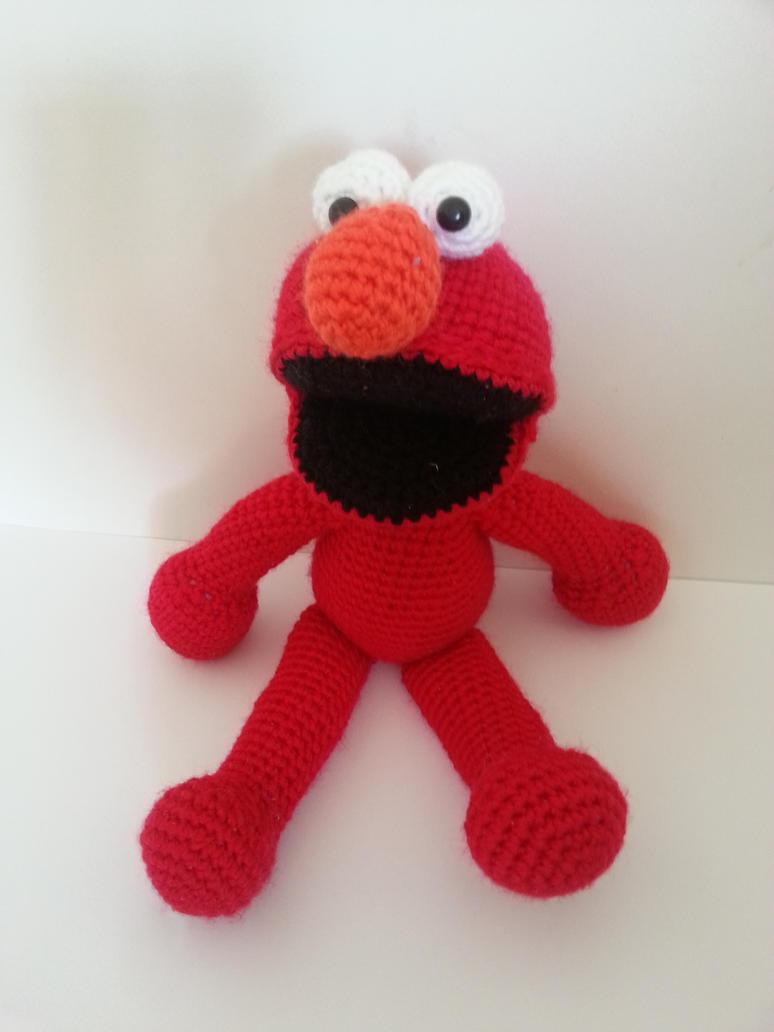 Elmo Amigurumi by CMCarterArt
