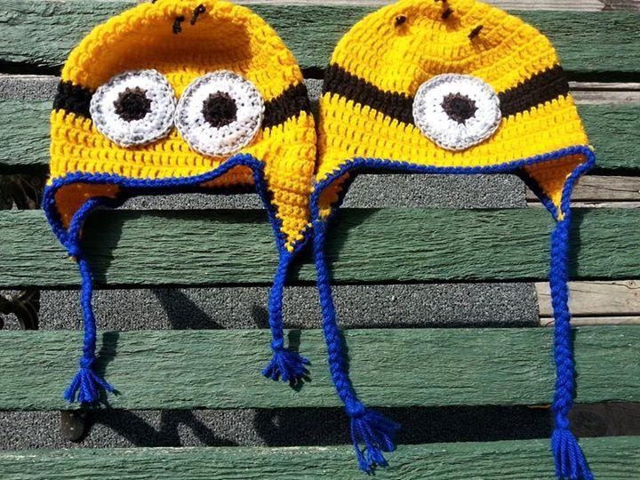 Minion Crochet Hats by CMCarterArt