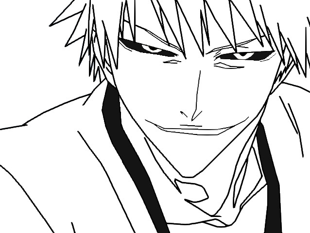 Hollow ichigo lineart by club bleach on deviantart for Bleach color pages