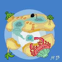 Pixel planet+sand by boultim