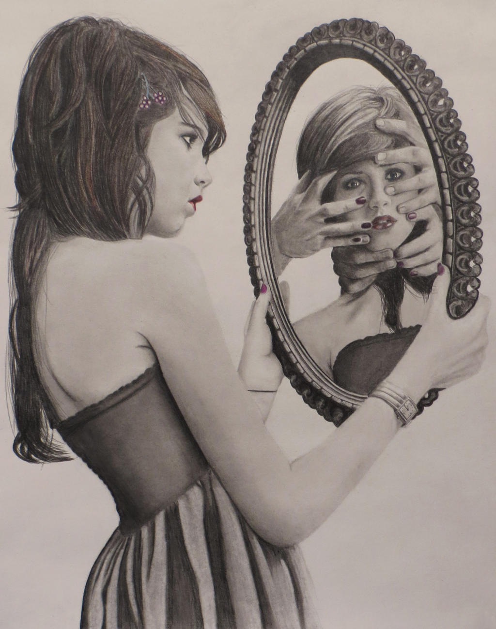 Mirror Image Drawing Drawing Gallery Mirror by