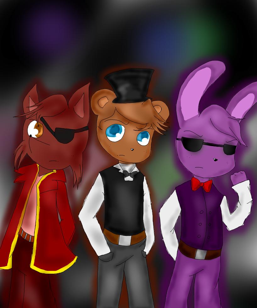 SFM FNAF - Freddy,Bonnie,Chica and Foxy by FoxyMX on