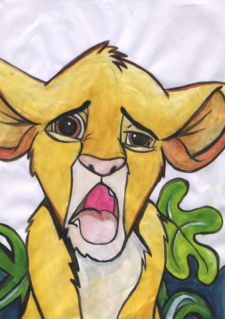 Simba No Likey by BlueBubblz