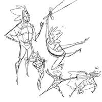 Rough Liono sketches by radsechrist
