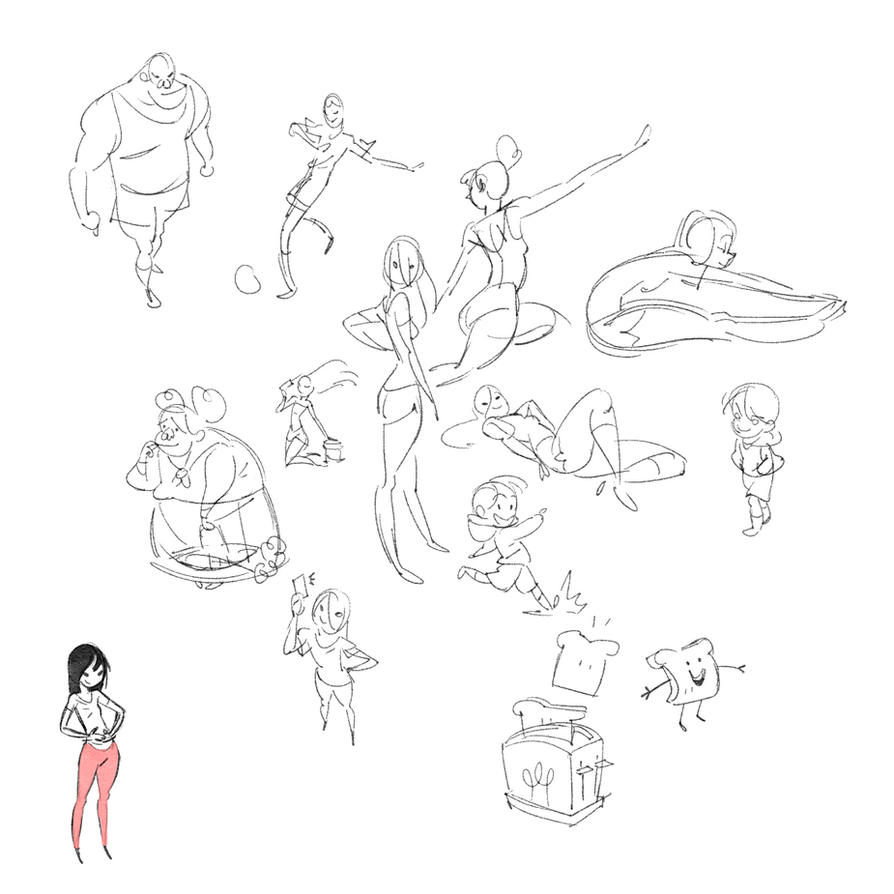 Tiny Sketches by radsechrist