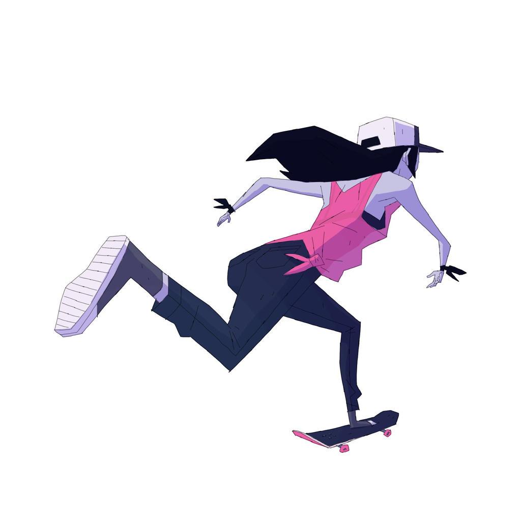 Skater girl by radsechrist