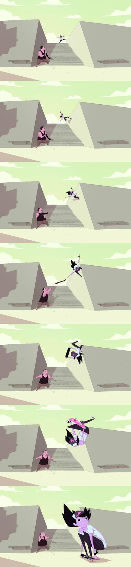 Kyoko Trick by radsechrist