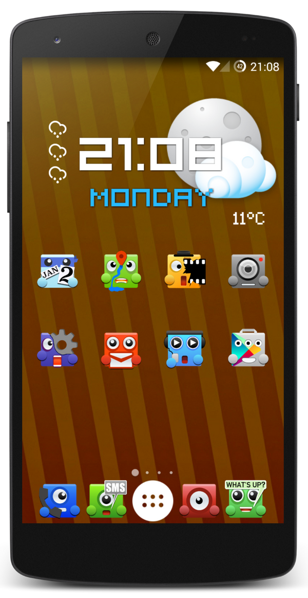 Upbeat Monsters Icon Pack Android WIP by MarkPixel