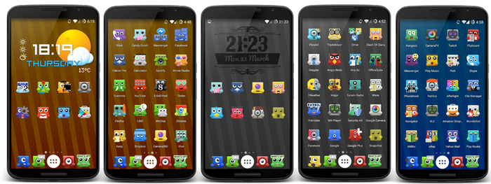 Upbeat Monsters Icon Pack for android RELEASED !!!