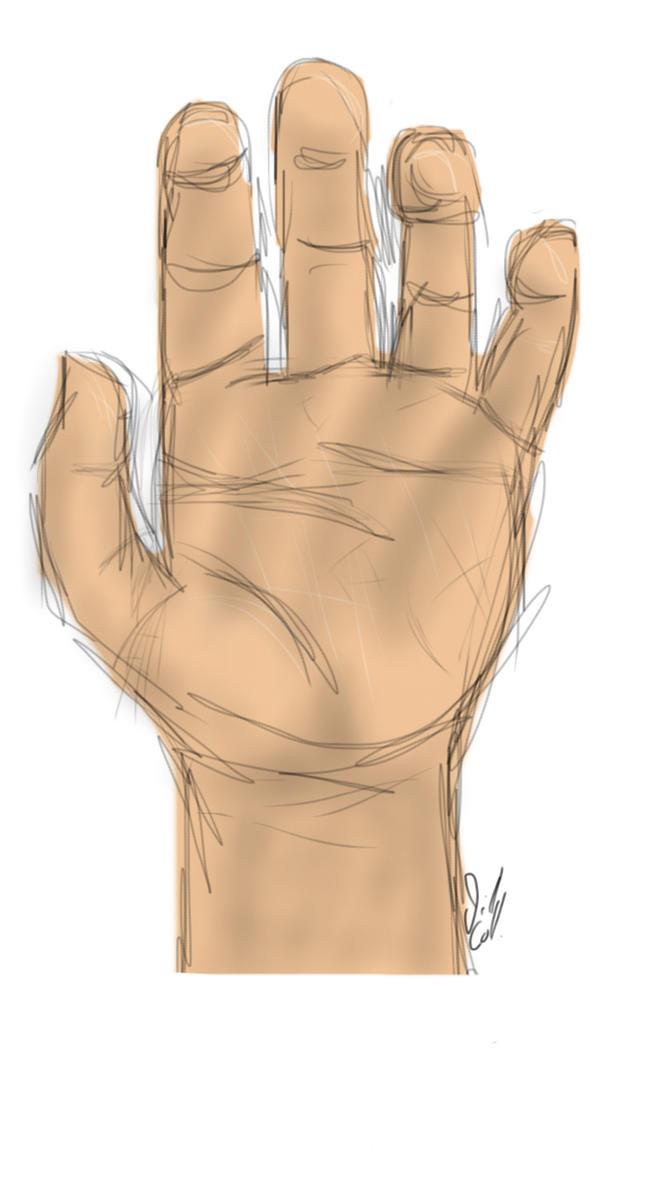 Hand Sketch by CastielsAKitten