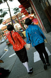 China and Japan Walking by Empyrean-Feather