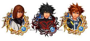 Union X Magic Medals: Hikari, Vanitas, Sora