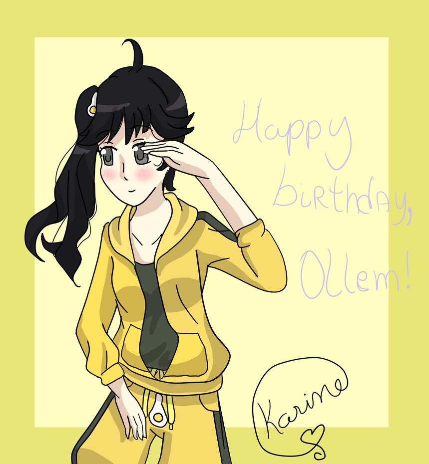 Happy birthday,Ollem! - Karen by YoshineChan