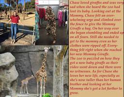 Chase baby giraffe by kronostar