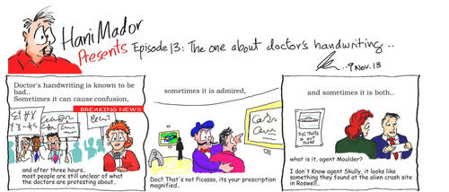 episode 13 The one about doctor's hand writin by iium2000