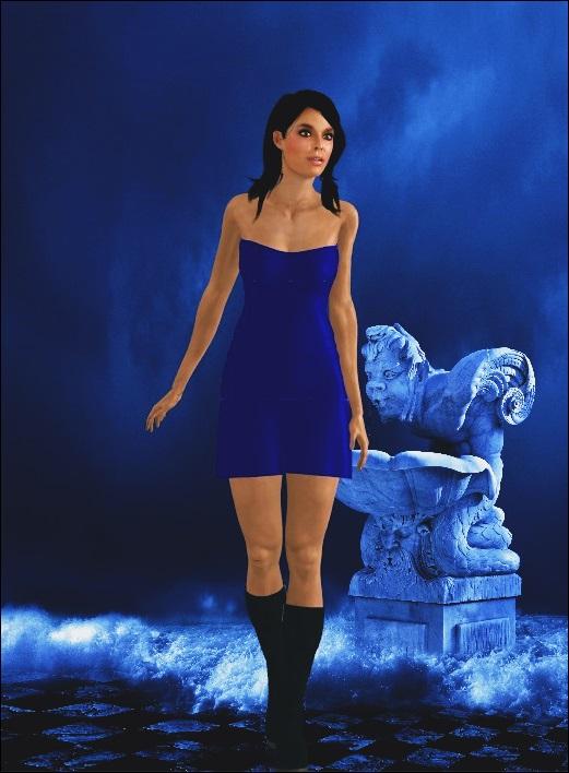 Lady in Blue by Lady-Lili
