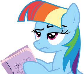 Rainbow Dash acting Twilight Sparkle by XBoomdiersX