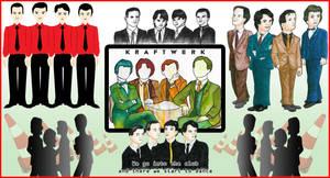 Kraftwerk - The Band by Tabascofanatikerin