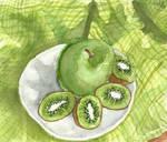 Green Kiwis, Green Apple