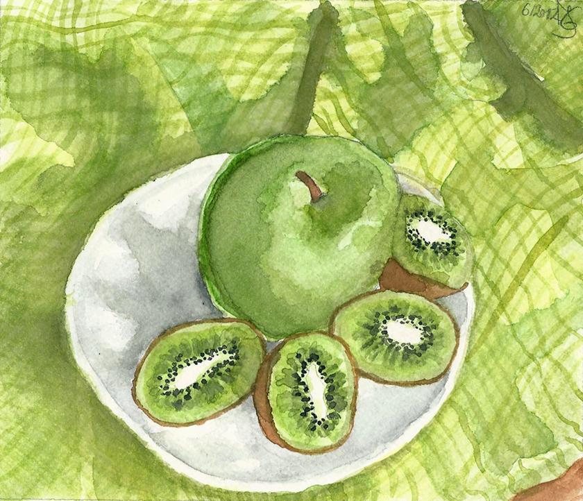 Green Kiwis, Green Apple by Tabascofanatikerin