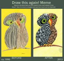 Draw this again! Meme: An Owl by Tabascofanatikerin