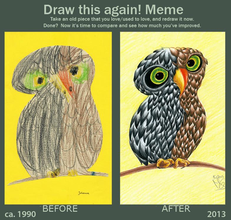 Draw this again! Meme: An Owl