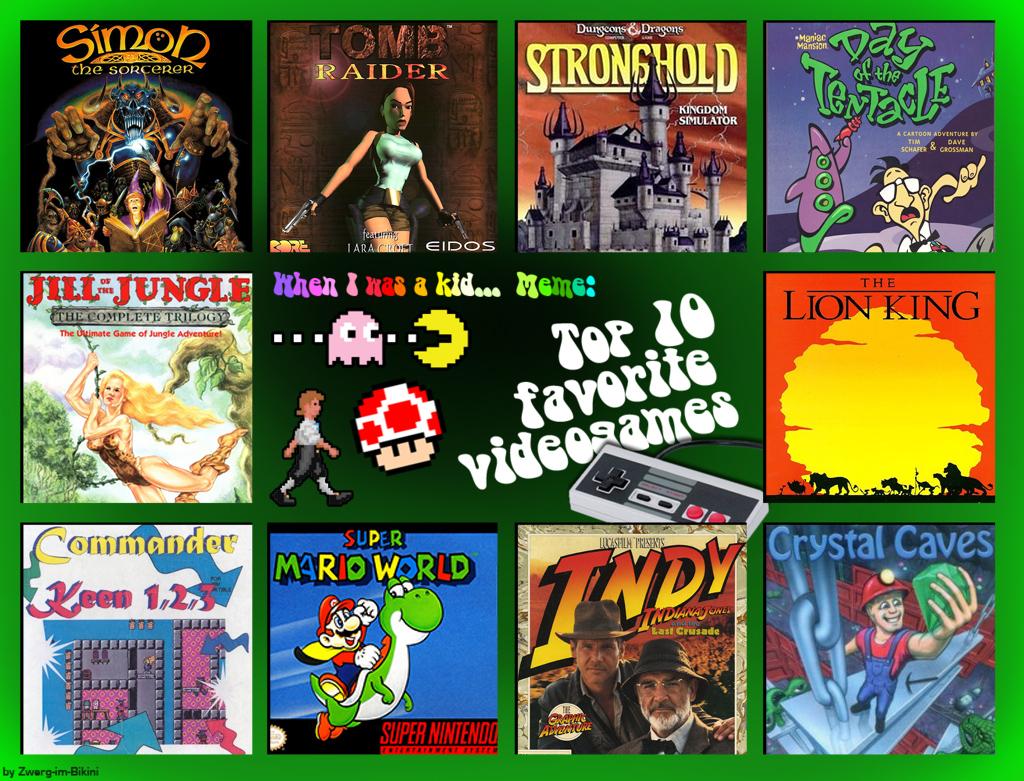 Top 10 Favourite Video Games when I was a Kid by Tabascofanatikerin