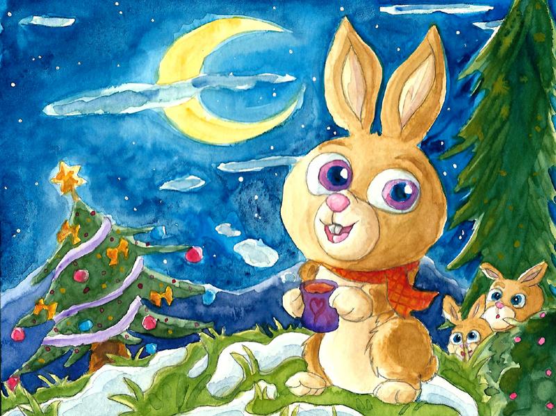 A happy Christmas Bunny by Tabascofanatikerin