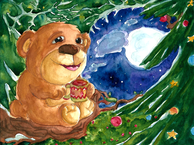 A content Christmas Bear by Tabascofanatikerin