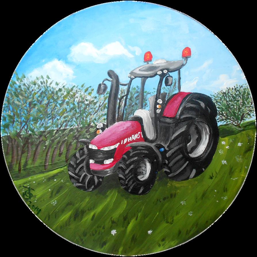 Farm Tractor (for my little Nephew) by Tabascofanatikerin