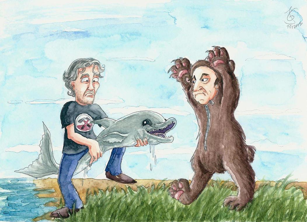 Roger Waters vs. Nick Mason by Tabascofanatikerin