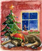 Merry doggy Christmas 2015 by Tabascofanatikerin