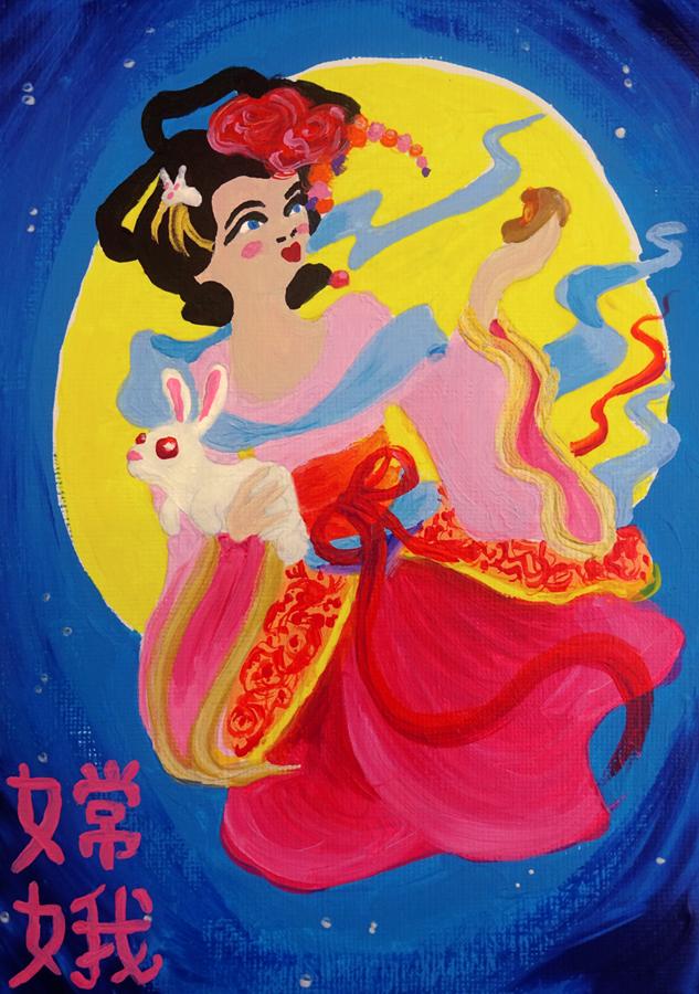 Chang'e, Goddess of the Moon by Tabascofanatikerin