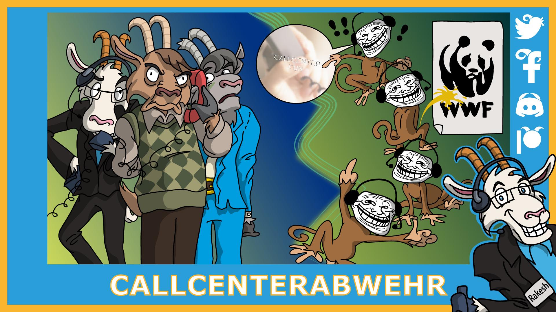Telefonziege 'WWF-Betrueger (Callcenter Fun)' by Tabascofanatikerin