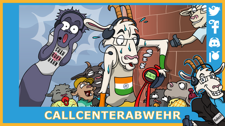 Telefonziege 'Telefonmarathon mit Callcenter' by Tabascofanatikerin