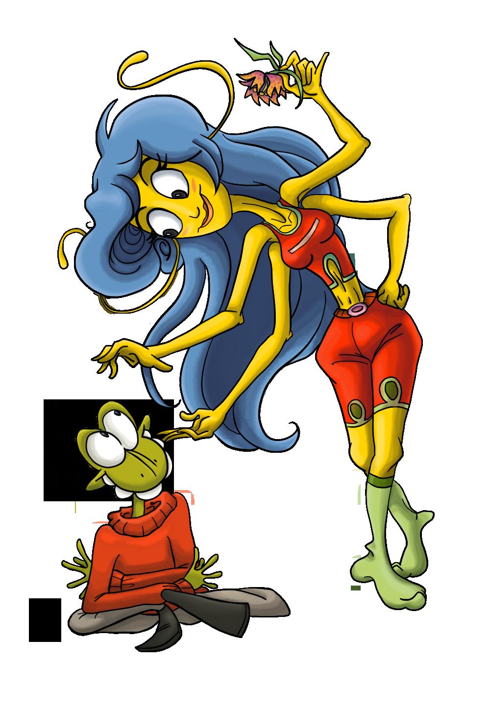 Motti Marloid and Nanaka Nanunak (OC Fanart) by Tabascofanatikerin