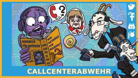 Telefonziege 'Leiden eines Callcenterneulings 1' by Tabascofanatikerin
