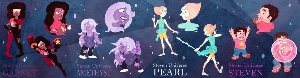 We are the Crystal Gems (Steven Universe Fanart) by Tabascofanatikerin