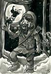 Dwoiz the Dwarf in Winter (Dungeons and Dragons) by Tabascofanatikerin