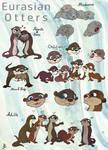 Eurasian Otters (my Style) by Tabascofanatikerin