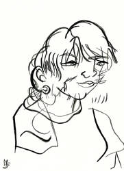 Blind Portrait - Bernadette by Tabascofanatikerin