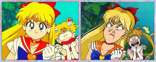 Screencap Redraws: Sailor Moon 08 by Tabascofanatikerin