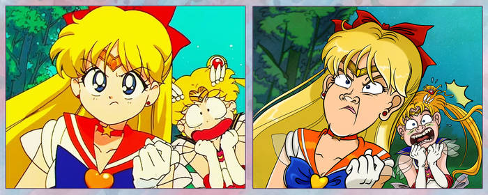 Screencap Redraws: Sailor Moon 08 by Tabascofanatikerin