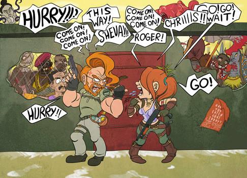 Nice Teamwork! (Resident Evil 5)