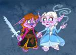 Anna and Elsa, the Troll Sisters by Tabascofanatikerin