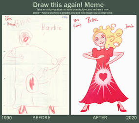 Draw it again: Barbie