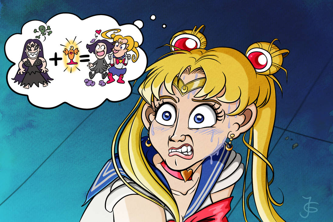 Screencap Redraws: Sailor Moon 09 (with context)