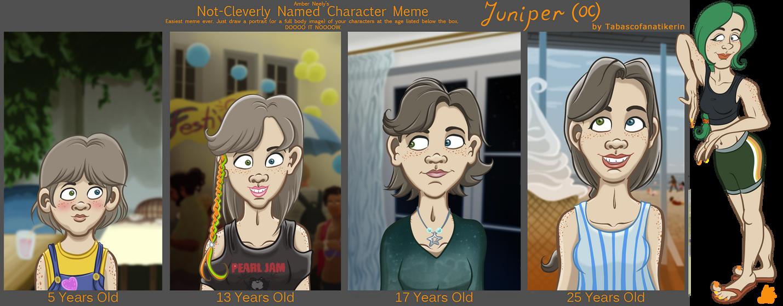 Character Age Meme: Juniper (my OC)